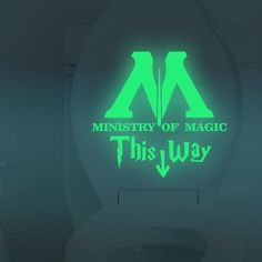 Ministry of Magic This Way Vinyl Decal Glow In The Dark