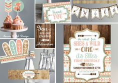 Wild ONE First Birthday Invitation Printable by CassiaLeighDesign