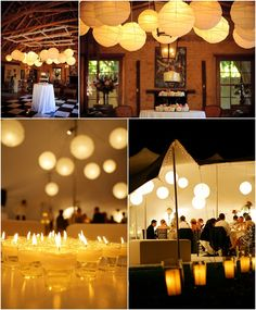 Chinese lanterns are a great look for any wedding or event