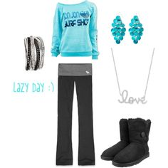 lazy day outfit :) love that blue!