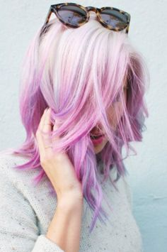 californianas Beauty: Fantasy Unicorn Purple Violet Red Cherry Pink Bright Hair Colour Color Coloured Colored Fire Style curls haircut lilac lavender short long mermaid blue green teal orange hippy boho ombré woman lady pretty selfie style fade makeup grey white silver trend Pulp Riot