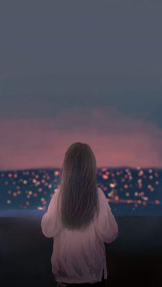 29 ideas nature girl cartoon for 2019 Couple Wallpaper, Girl Wallpaper, Cute Wallpaper Backgrounds, Cute Wallpapers, Lock Screen Backgrounds, Girl Cartoon, Cartoon Art, Cover Wattpad, Foto Top