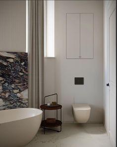 Minimalist Bathroom Design, Bathroom Interior Design, Contemporary Bathrooms, Modern Bathroom, Master Bathroom, Interior Design Instagram, Marble Wood, Architecture Visualization, Chic Bathrooms