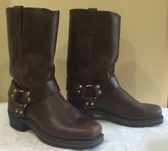 3ddae5a47417 s  apos  11 inch Harness Brown Oiled Leather Boots 8 D