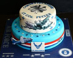 Fabulous Air Force cake for retirement or promotion done by @cakesdecor (twitter)