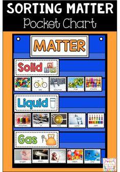 Matter, Solids, Liquids, Gases, Changes in Matter Kindergarten Homeschool Curriculum, Kindergarten Anchor Charts, Kindergarten Science, Teaching Science, Homeschooling, Teaching Ideas, Science Classroom, Science Worksheets, Science Activities