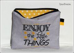trousse enjoy jaune et gris