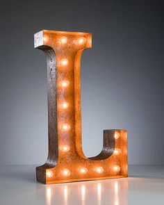 Vintage Marquee Lights - Ready to Ship - Letter L. $199.00, via Etsy.
