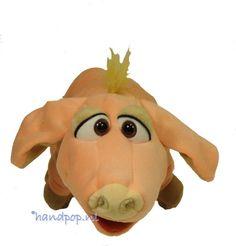 Ebby is een lekker zacht en aandoenlijk roze biggetje. Living Puppets handpop varken 37 cm groot.