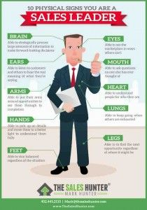 Click on above image for a free infographic on signs of sales leadership!
