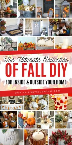 here are best DIY fall decor ideas that are perfect for welcoming autumn. These decor ideas include wreaths, indoor decor and even stunning outdoor porch decor ideas. These best DIY fall decor ideas are guaranteed to glam your house up in time for fall. Diy Fall Wreath, Fall Wreaths, Autumn Crafts, Thanksgiving Crafts, Cool Diy, Fall Projects, Diy Projects, Fall Home Decor, Porch Decorating