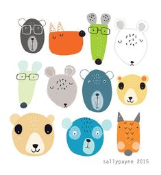Illustration and surface pattern Pattern Illustration, Children's Book Illustration, Animal Illustrations, Baby Art, Stuffed Animal Patterns, Surface Pattern Design, Cute Drawings, Drawing Sketches, Doodle Art