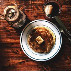 Classic pancakes for breakfast