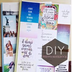 abcdeli: DIY back to school tumblr photo notebook
