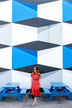 Geometric Mural Wynwood Miami