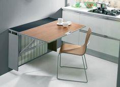 http://www.estiloydeco.com/5-tips-para-decorar-cocinas-pequenas/ (Mesa plegable para ahorrar espacio)