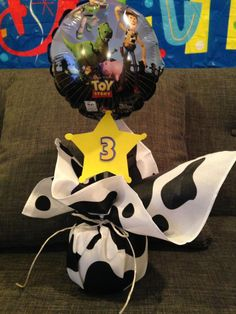 Toy Story Baby, Toy Story Theme, Toy Story Birthday, Cowboy Birthday Party, 4th Birthday Parties, 2nd Birthday, Birthday Ideas, Toy Story Centerpieces, Party Centerpieces