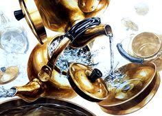 노량진 오늘미술학원 기초디자인 수업 연구작#주전자그리기 #water #물 Art Classroom, 3d Rendering, Dieselpunk, Metallic Paint, Art Drawings, Watercolor, Painting Metal, Creative, Illustration