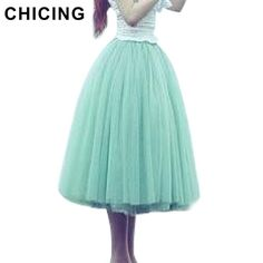 87fbf486f3827 CHICING 2017 Vintage 5 Layers Tutu Princess Skirt Pleated Mesh Tulle Skirts  Ball Gown High Waist