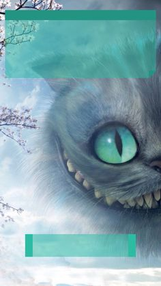 ↑↑TAP AND GET THE FREE APP! Lockscreens Art Creative Cheshire Cat Alice Wonderland Blue Eyes HD iPhone 5 Lock Screen