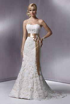 Brides.com: Affordable Wedding Dresses (Under $1,000!). Maggie Sottero. Slim A-line Alençon lace gown, style S5229, $999, Maggie Sottero See more Maggie Sottero wedding dresses