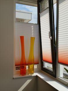 #Plissé gordijn: model trufit van #Luxaflex met heel gaaf kleurverloop in de stof