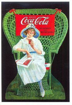 Vintage Coca~Cola post card.