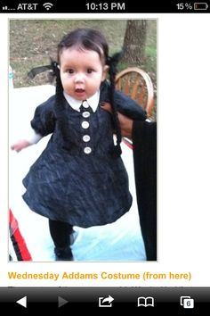 Wednesday Adams costume. So cute!