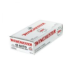 Winchester's Target 45 Auto 230GR FMJ Handgun Ammunition is a perfect range or training load.