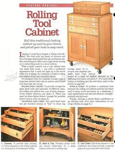 Rolling Tool Cabinet Plans - Workshop Solutions