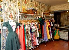My friend Eleanor's beautiful Dig For Victory shop in Brighton. Handmade frocks from vintage fabrics.