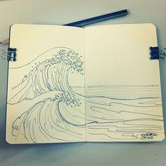 caderno de arte , desenhos de onde