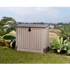 Keter 30 Cu. Ft Storage Shed, Taupe Storage Shed Kits, Outdoor Storage Sheds