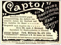 Original-Werbung/ Anzeige 1898 -  CAPTOL HAARWASSER / MÜLHENS KÖLN  - ca. 90 x…