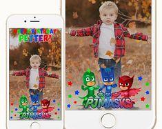 Pj Masks Snapchat Geofilter, Pj Masks Geofilter, Pj Masks Birthday, Pj Masks Party, Pj Masks Theme Snapchat Geofilter,Pj Masks Birthday Sign