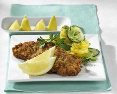 Unser beliebtes Rezept für Wiener Schnitzel mit Kartoffelsalat und mehr als 55.000 weitere kostenlose Rezepte auf LECKER.de.