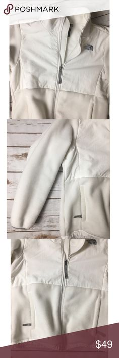 Nwot The North Face white Jackiet Never worn absolutely beautiful pristine condition white North Face Denali girls size XL jacket. Or a women's medium. The North Face Jackets & Coats