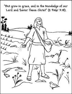Matthew 131 23 Mark 41 20 Like 8 Bible Coloring PagesMemory