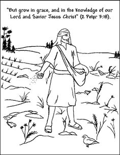 Sunday School Coloring Page Parable of the Sower  Childrens