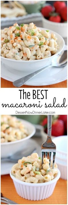 This Hawaiian-style macaroni salad is super creamy, lightly sweet, and truly the BEST macaroni salad out there! The perfect side dish for any party or potluck! on MyRecipeMagic.com