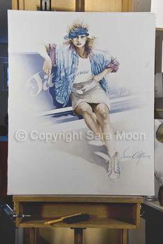 Original Sara Moon Artwork For Sale Moon Painting, Painting & Drawing, Moon Art, Oil On Canvas, Original Artwork, Art Gallery, Watercolor, Website, The Originals