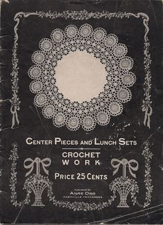 Cover of a 1915 crochet book & pattern 1