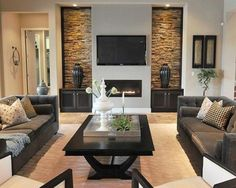 nice 57 Attractive Fireplace with TV Above Decoration Ideas