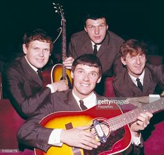 English Merseybeat pop group The Fourmost posed together in Clockwise from left: Mike Millward, Dave Lovelady, Billy Hatton and Brian O'Hara. Get premium, high resolution news photos at Getty Images Pop Group, Liverpool, English, Poses, Celebrities, Gallery, Movie Posters, Fictional Characters, Image