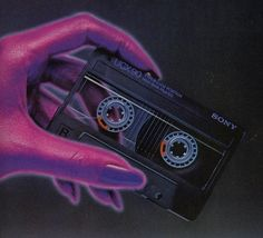 Sony clear cassettes: I bought a LOT of them New Retro Wave, Retro Waves, Vaporwave, Casette Tapes, Neon Noir, 80s Design, Logo Design, Arte Cyberpunk, 80s Aesthetic