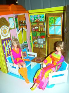 Mod Era Vintage Barbie Country Living Home Vinyl House Case Furniture for OOAK | eBay