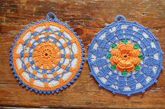 Vintage Potholder's SET 2 Crocheted by theprimitivehome