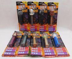 Disney Star Wars Pez Dispenser Set of 9 Black Cards Boba R2-D2 C-3PO Yoda