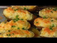 Dinner for two : T-bones Steaks, Loaded Twice Baked Potatoes, and Teriyaki Shrimp Salad. - YouTube
