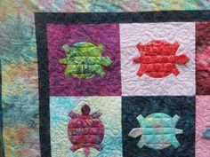 baby quilts turtles | baby or toddler quilt Turtle Dance 4 by MooseCarolQuilts ... | Quilt ...